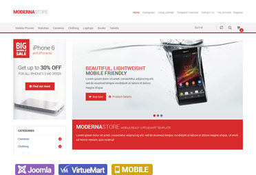 Responsive Shopping Cart Joomla Templates For Virtuemart