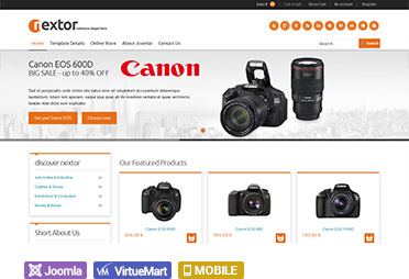 responsive shopping cart joomla templates for virtuemart