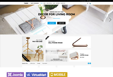 Build an amazing ecommerce website today using the Theon shop Virtuemart  template we have designed for the latest version of Joomla which comes with  ... 48a8bd5ef